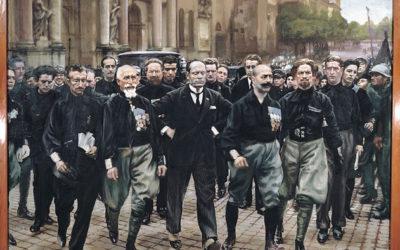 Mussolini non c'era: il quadro è un falso storico